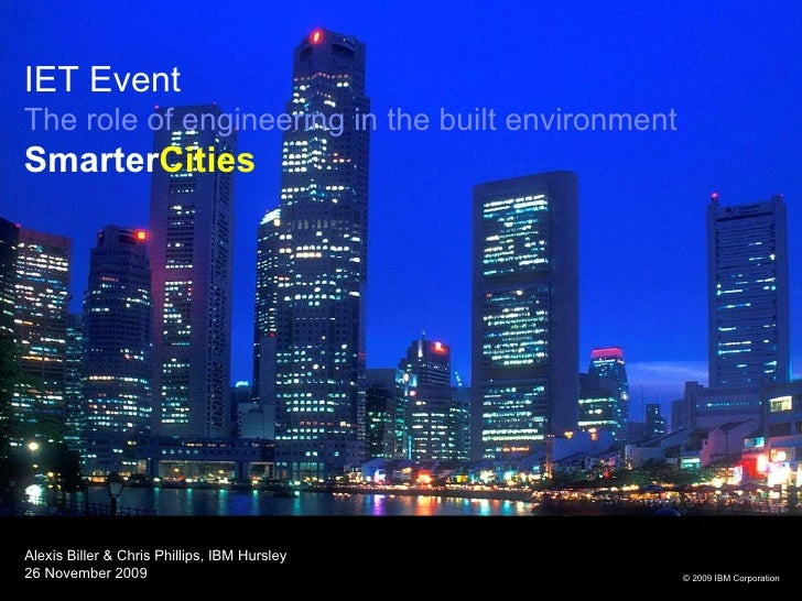 Smarter Cities | IET Talk on the Built Environment in 2050