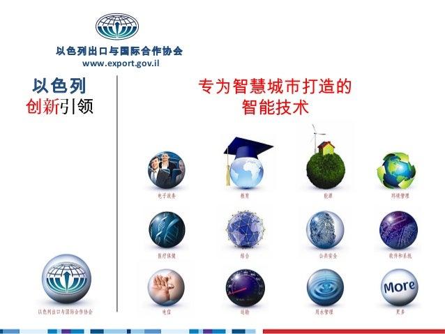 以色列出口与国际合作协会    www.export.gov.il以色列                     专为智慧城市打造的创新引领                       智能技术