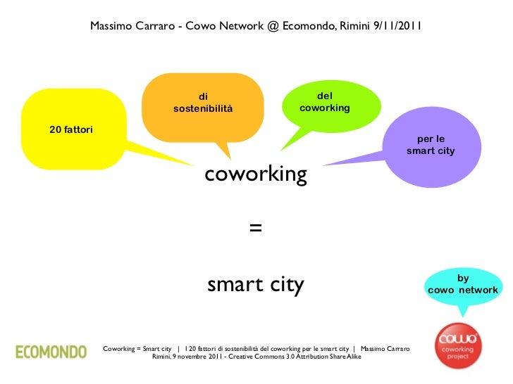 Massimo Carraro - Cowo Network @ Ecomondo, Rimini 9/11/2011                                         di                    ...