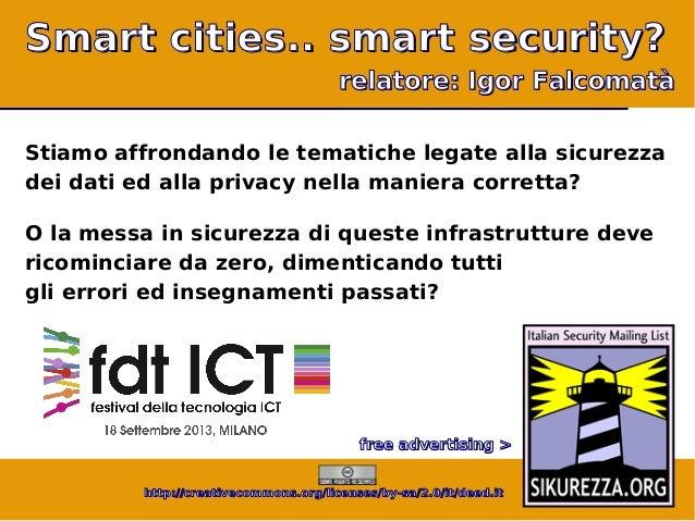 festival ICT 2013: Smart cities… smart security?