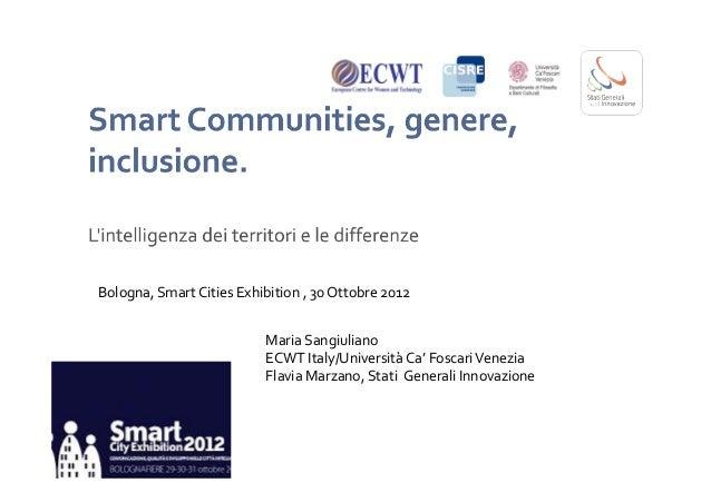 Smart Communities  & gender