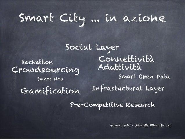 Smart City ... in azione                 Social Layer Hackathon              ConnettivitàCrowdsourcing           Adattivit...