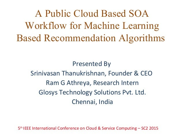 cloud based machine learning
