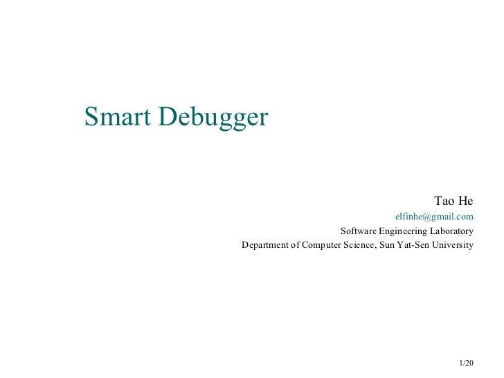 Smart debugger