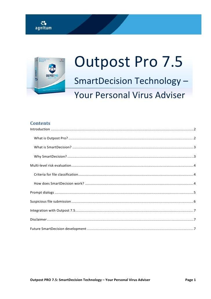 OutpostPro7.5                                           SmartDecisionT...