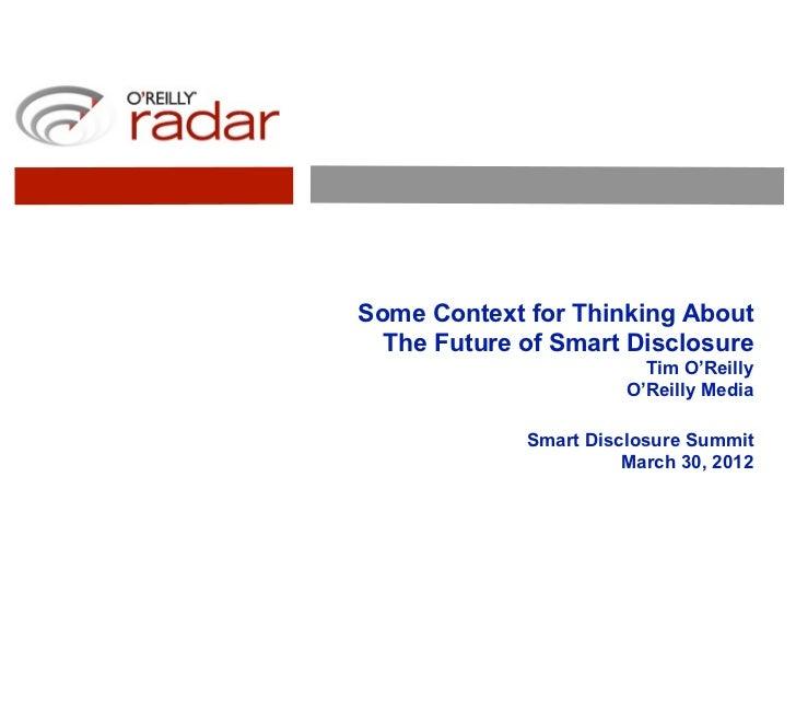 The Future of Smart Disclosure (pdf)