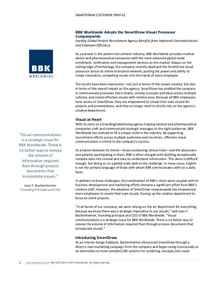 BBK Worldwide Adopts the SmartDraw Visual Processor