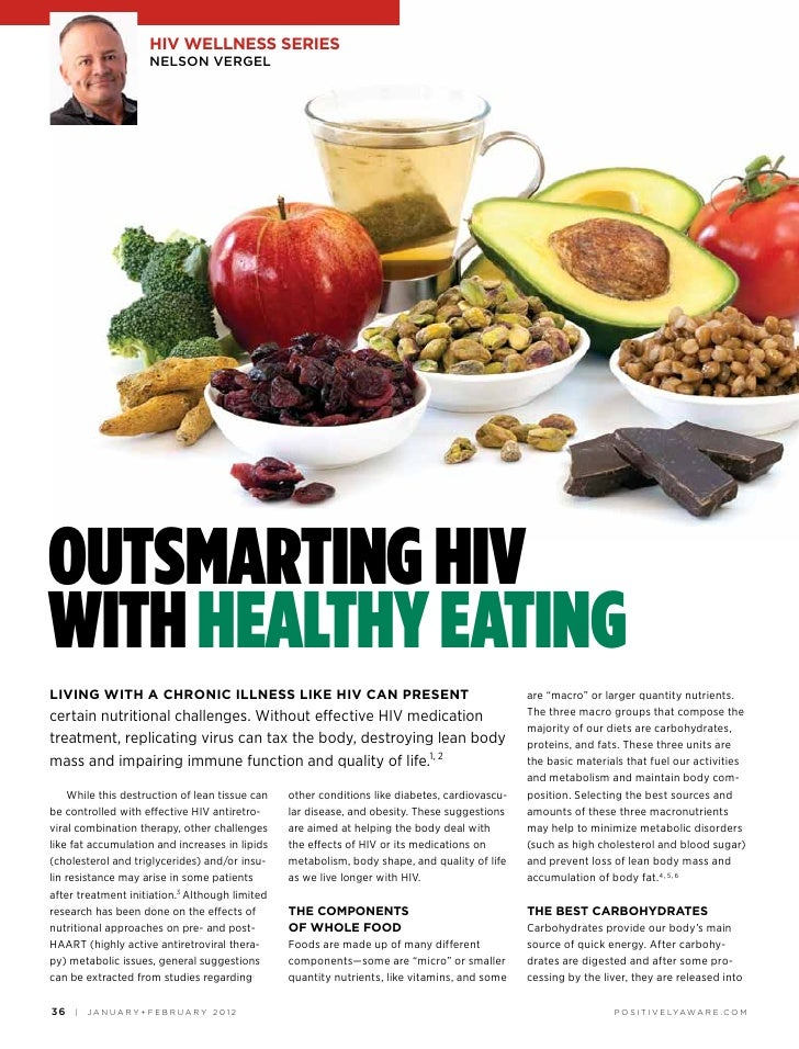 HIV WELLNESS SERIES                       NELSON VERGELOUTSMARTING HIVWITH HEALTHY EATINGLIVING WITH A CHRONIC ILLNESS LIK...