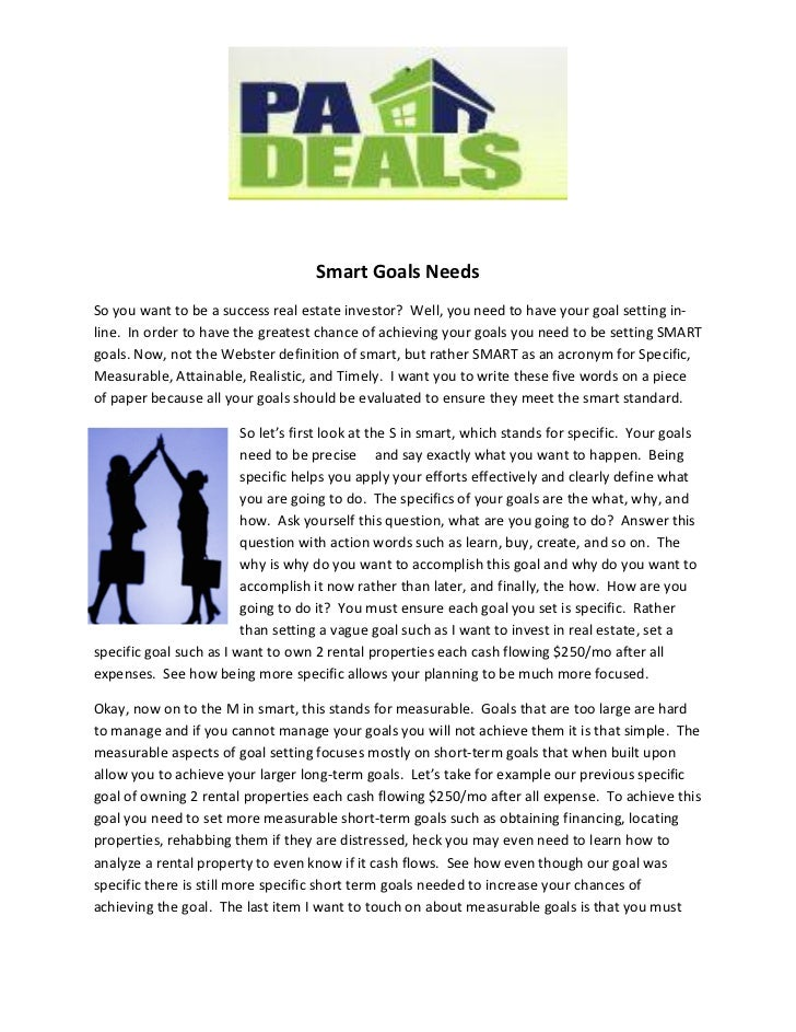 SMART Goals Needs