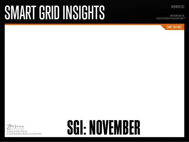 [Smart Grid Market Research] Smart Grid Index: November 2012 - Zpryme Smart Grid Insights