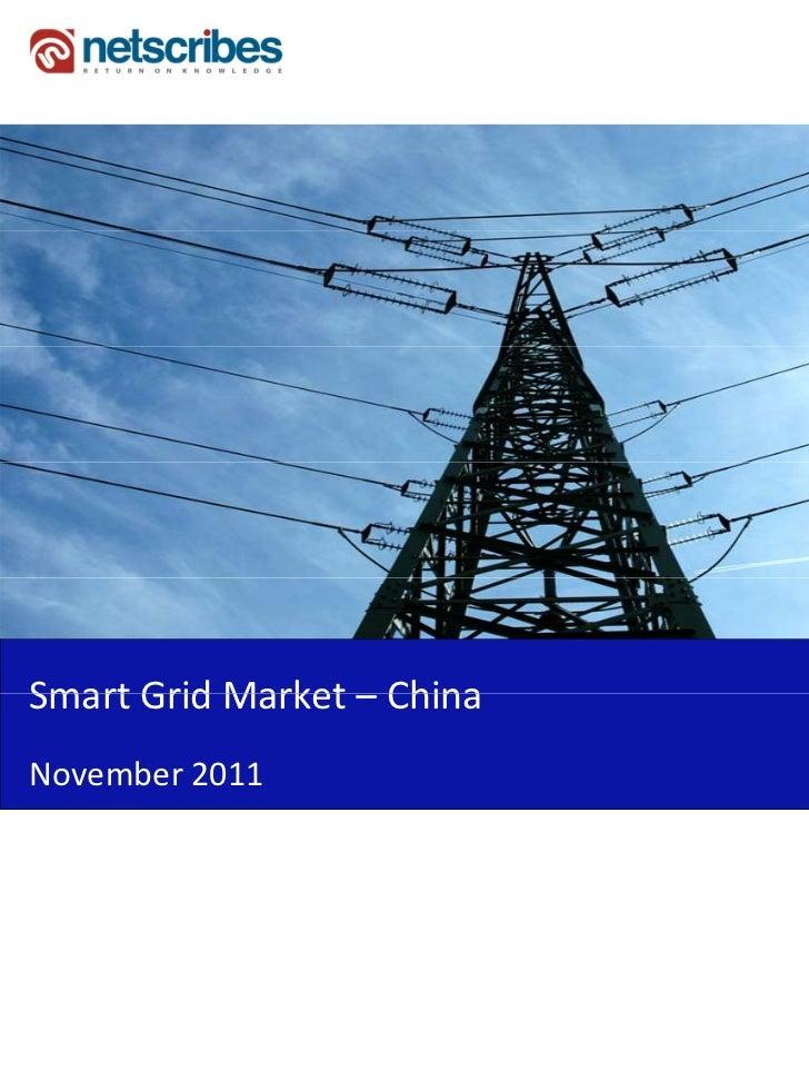 SmartGridMarket–Smart Grid Market ChinaNovember2011
