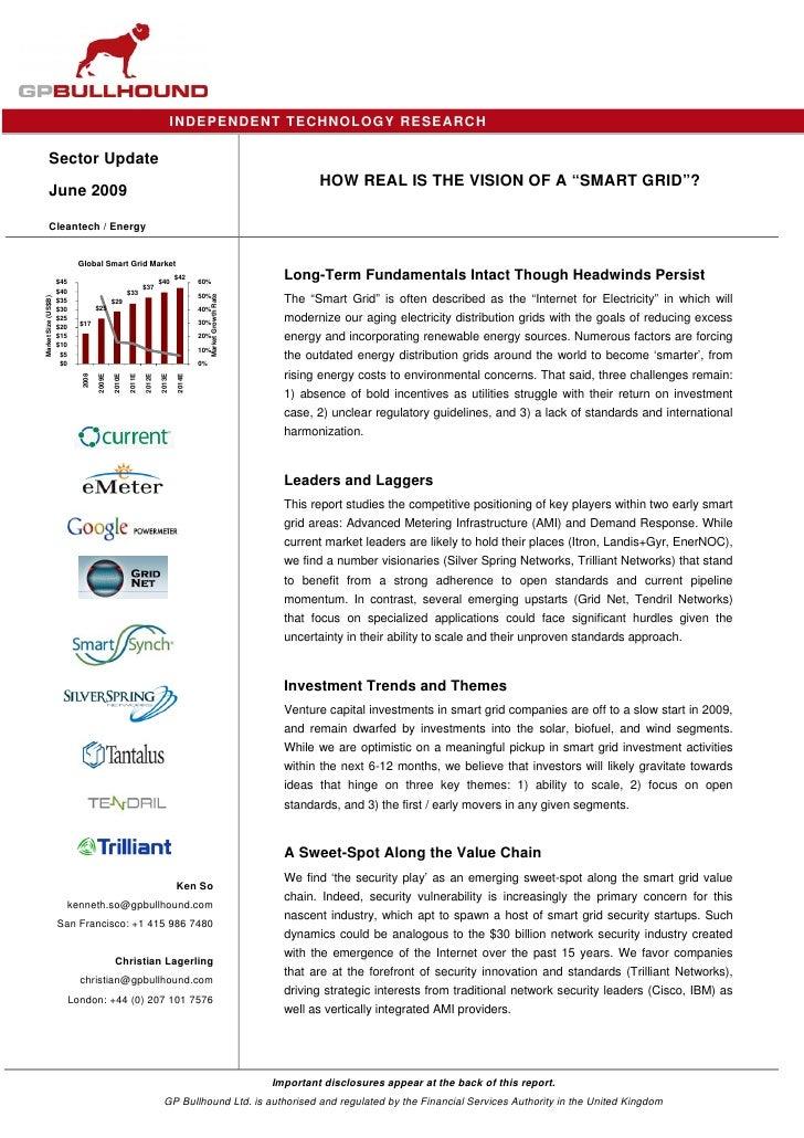 Smart Grid Report 2009 June