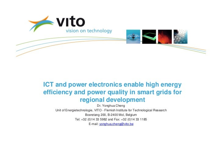 ICT and power electronics enable high energyefficiency and power quality in smart grids for             regional developme...