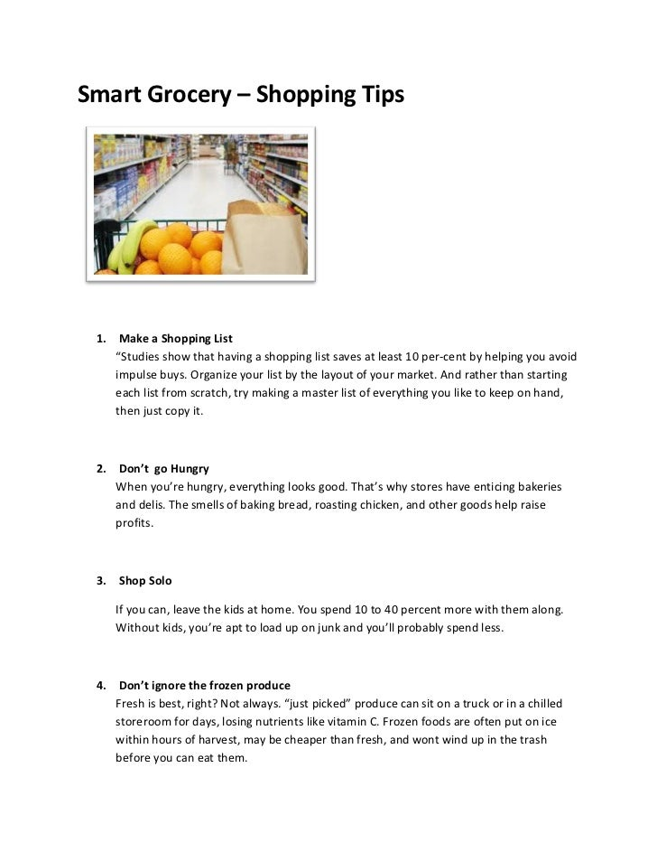 Smart grocery   shopping tips