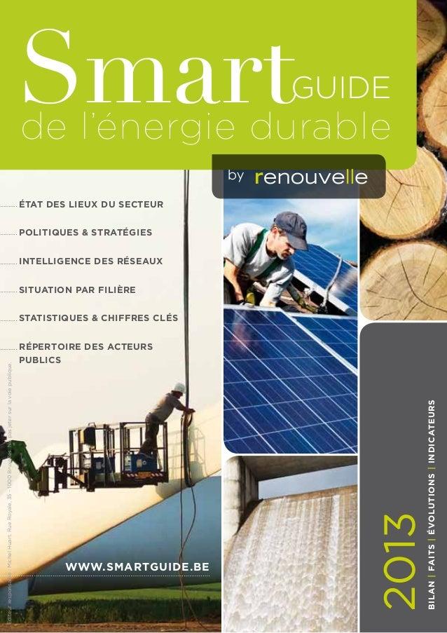 Smart  Guide  de l'énergie durable by  état des lieux du secteur Politiques & stratégies Intelligence des réseaux Situatio...