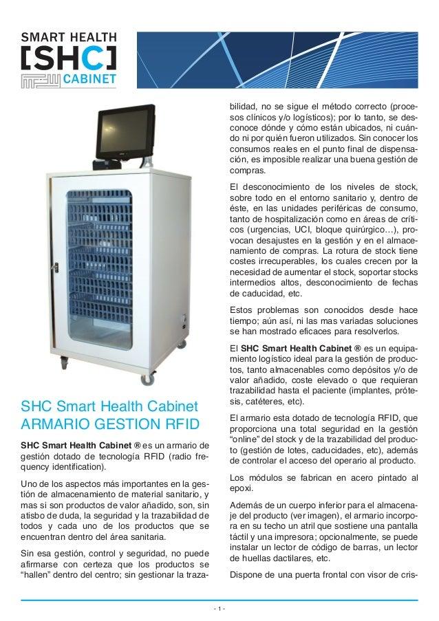 Armario de Gestion de Material Sanitario Inteligente [Smart Cabinet RFID]