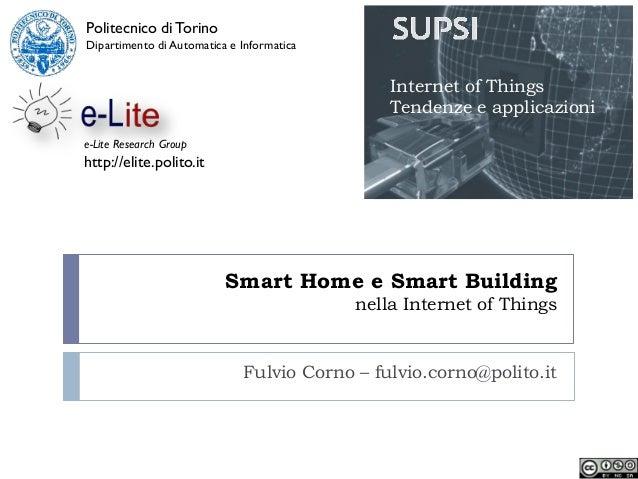 Smart home e smart building nella Internet of Things