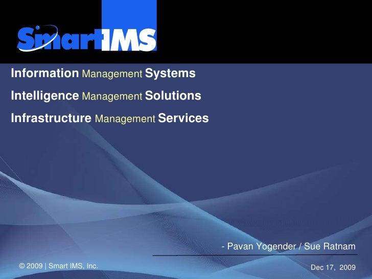 Smart Ims Presentation 01122009