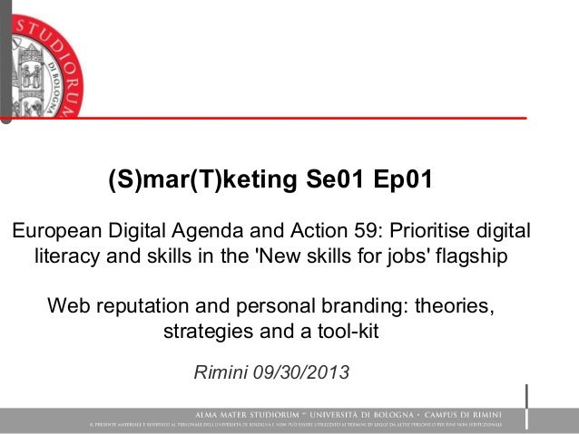 (S)mar(T)keting Se01 Ep01 European Digital Agenda and Action 59: Prioritise digital literacy and skills in the 'New skills...