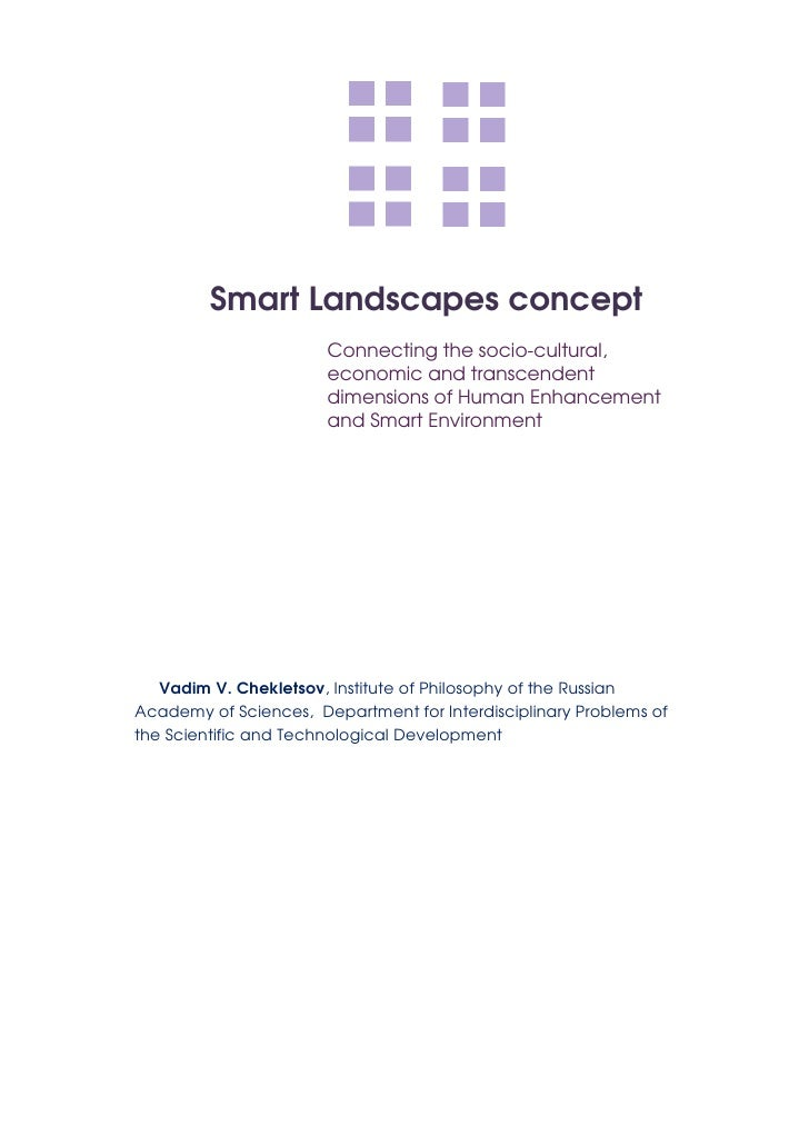 Smart Landscapes concept                        Connecting the socio-cultural,                        economic and transce...
