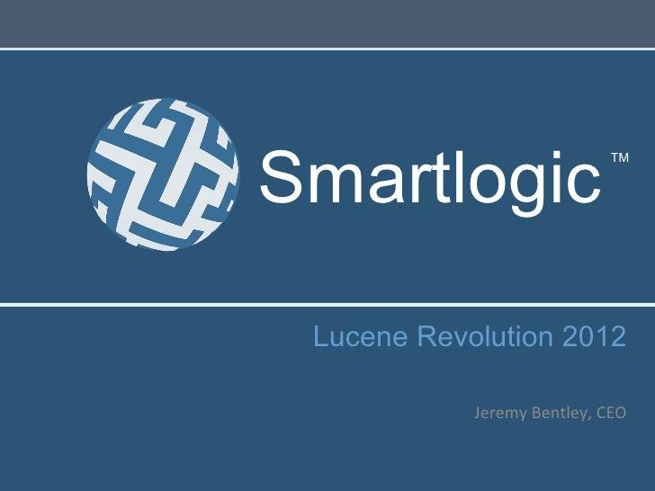 Smartlogic                                     TM Lucene Revolution 2012                                                ...