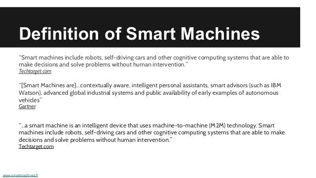 machine smart