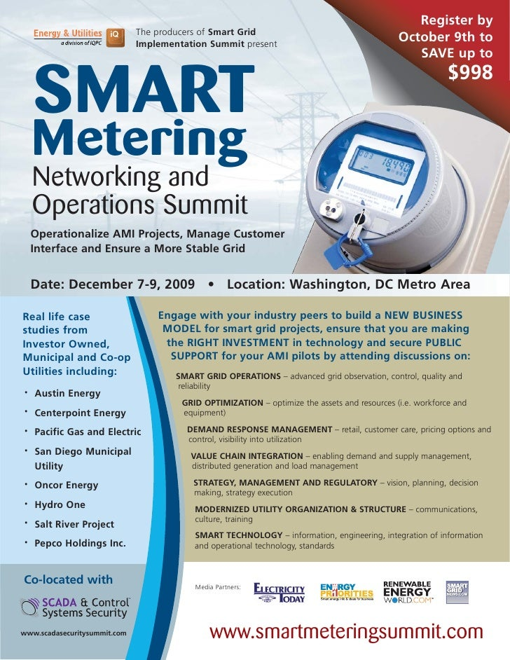 Register by                               The producers of Smart Grid                               Implementation Summit ...
