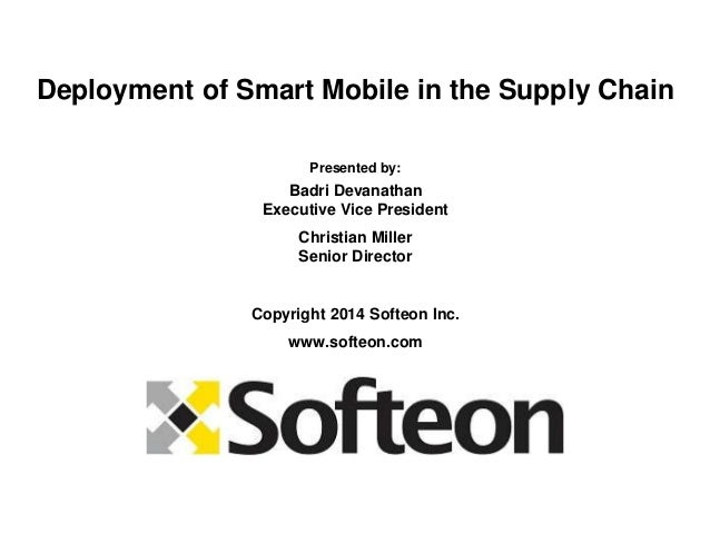 Smart Mobile Deployment in the Supply Chain 2014