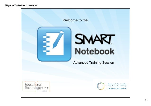 SN­your­iTools­ Part 2.notebook 1 Welcome to the  Advanced Training Session
