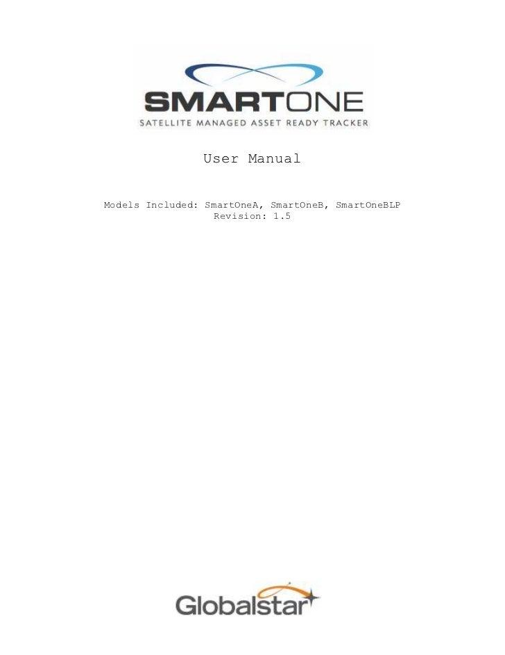 User ManualModels Included: SmartOneA, SmartOneB, SmartOneBLP                   Revision: 1.5