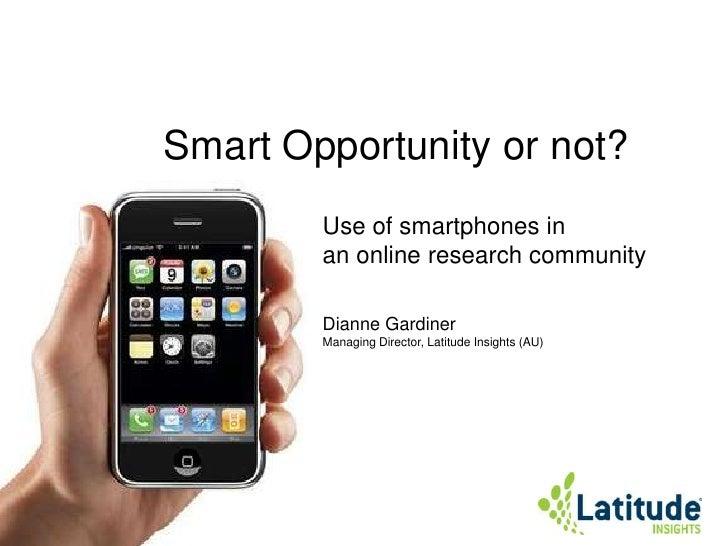 Smart opportunity or not mrmw2010 (slideshare)