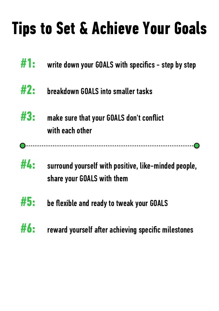 how to set and achieve personal goals