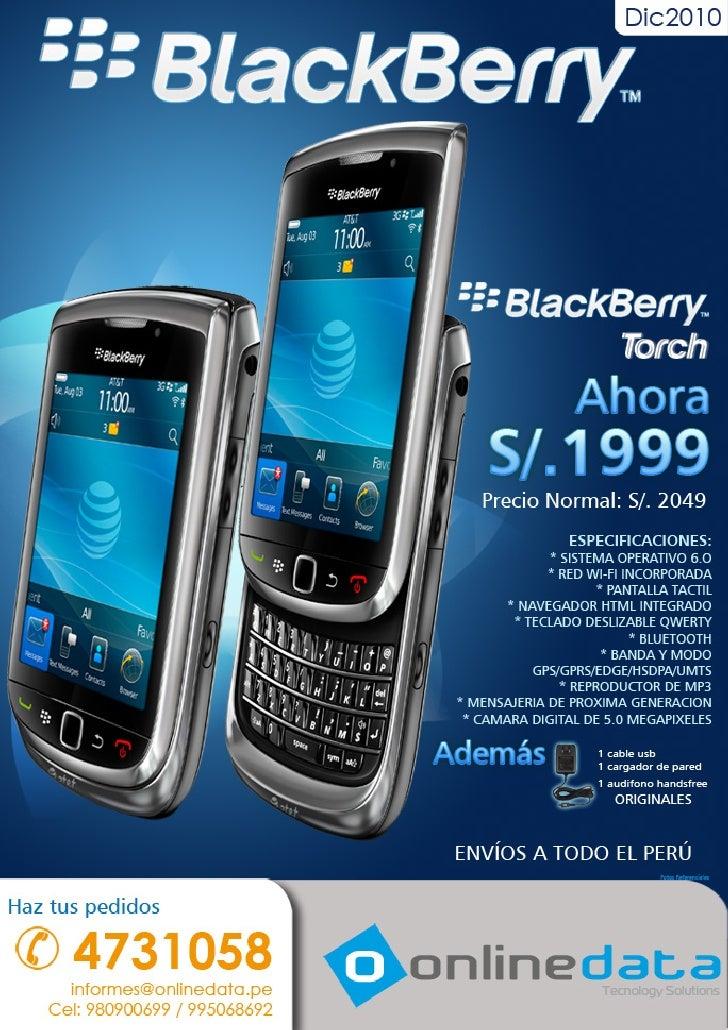 Smartphones: Blackberry Torch, Samsung Galaxy y más