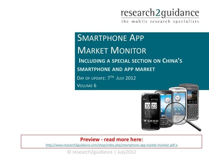 Smartphone App Market Monitor vol.6 Q1 2012