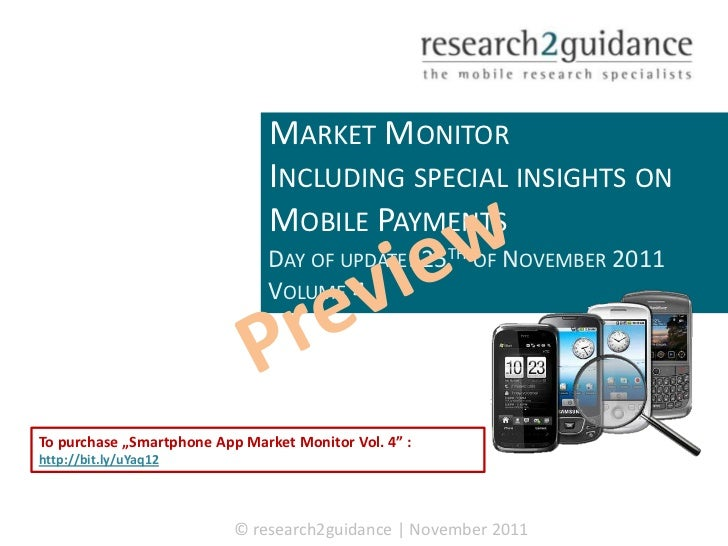 SMARTPHONE APP                                MARKET MONITOR                                INCLUDING SPECIAL INSIGHTS ON ...