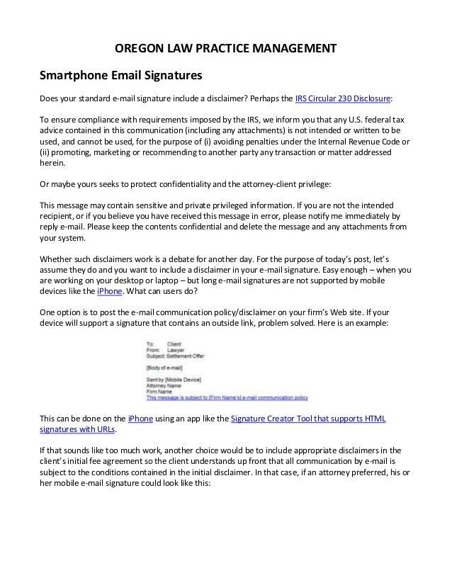 Smartphone Email Signatures
