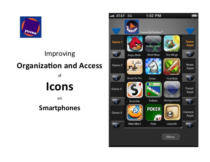 Smartphone icons - System for Improved Organization and Access - 11.15.2011