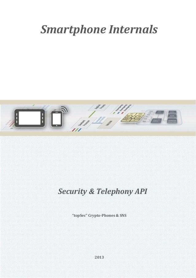 "Smartphone Internals   Security & Telephony API      ""topSec"" Crypto-Phones & SNS                 2013"