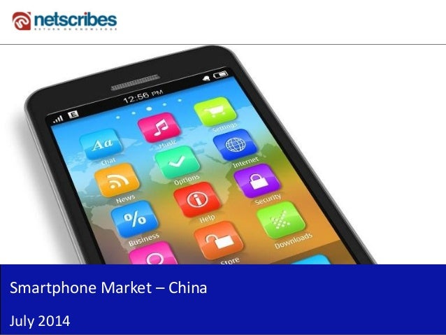 Insert Cover Image using Slide Master View Do not distort Smartphone Market – China July 2014