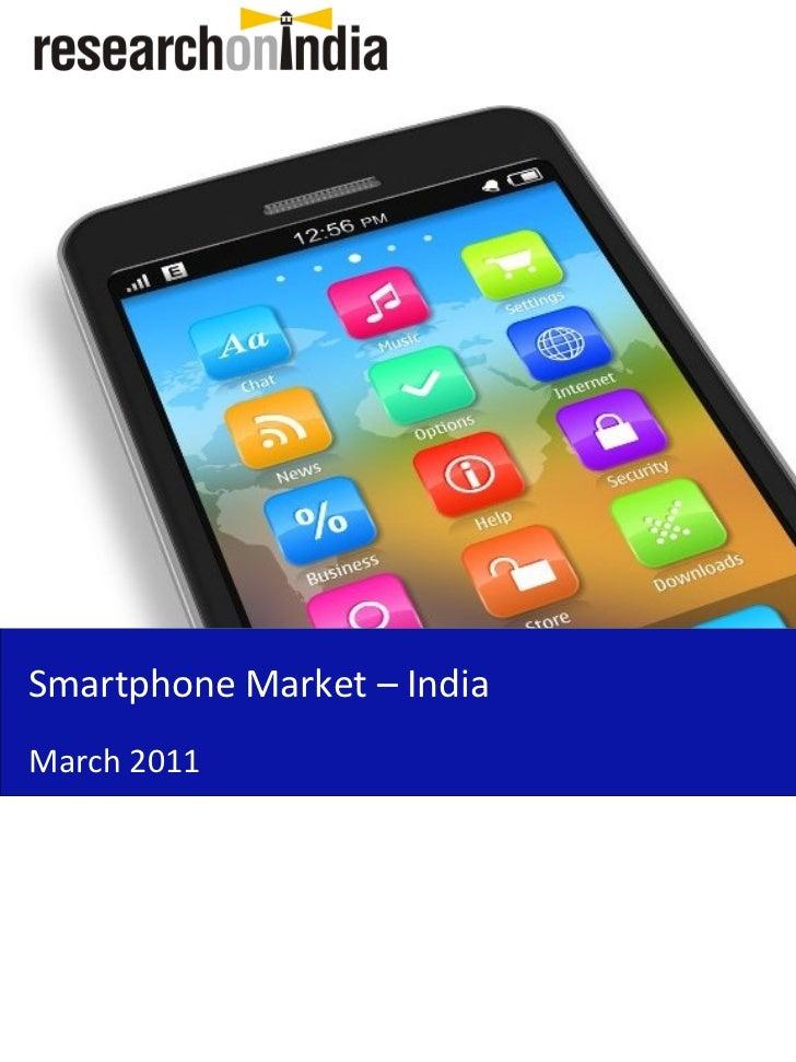 Smartphone Market – IndiaMarch 2011