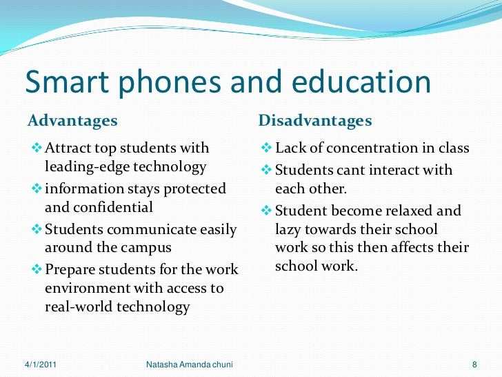 the advantages and disadvantages of cell phones on high school students Advantages and disadvantages of mobile phones: the smartphone generation that's why we've compiled this definitive list of the main advantages and disadvantages of cell phones (42,660+ students) coding for entrepreneurs.