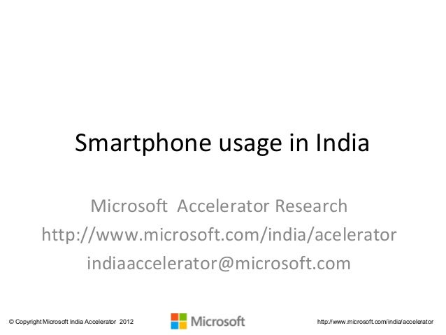 Smartphone usage in india