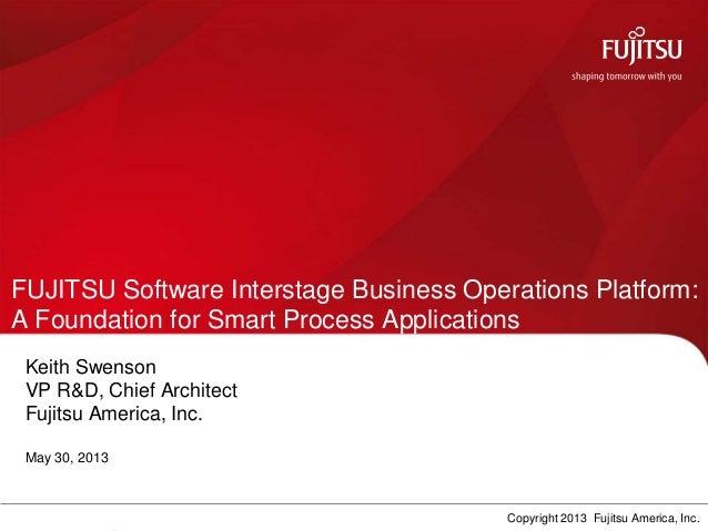 FUJITSU Software Interstage Business Operations Platform:A Foundation for Smart Process ApplicationsKeith SwensonVP R&D, C...