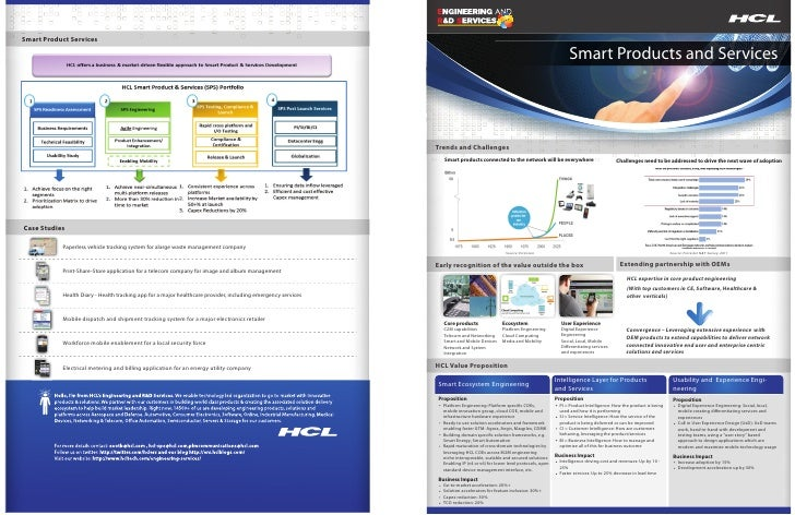 HCLT Brochure: Smart products and Services