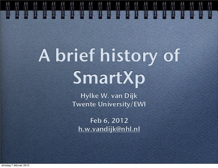Smart eXperience Lab - History