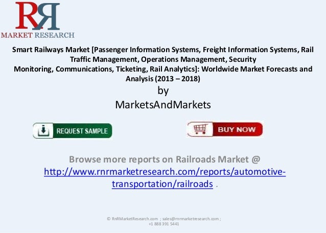 RnRMR Smart Railways Market 2013 Analysis & 2018 Forecasts