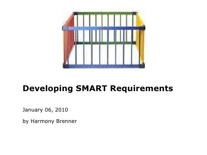 SMART Requirements