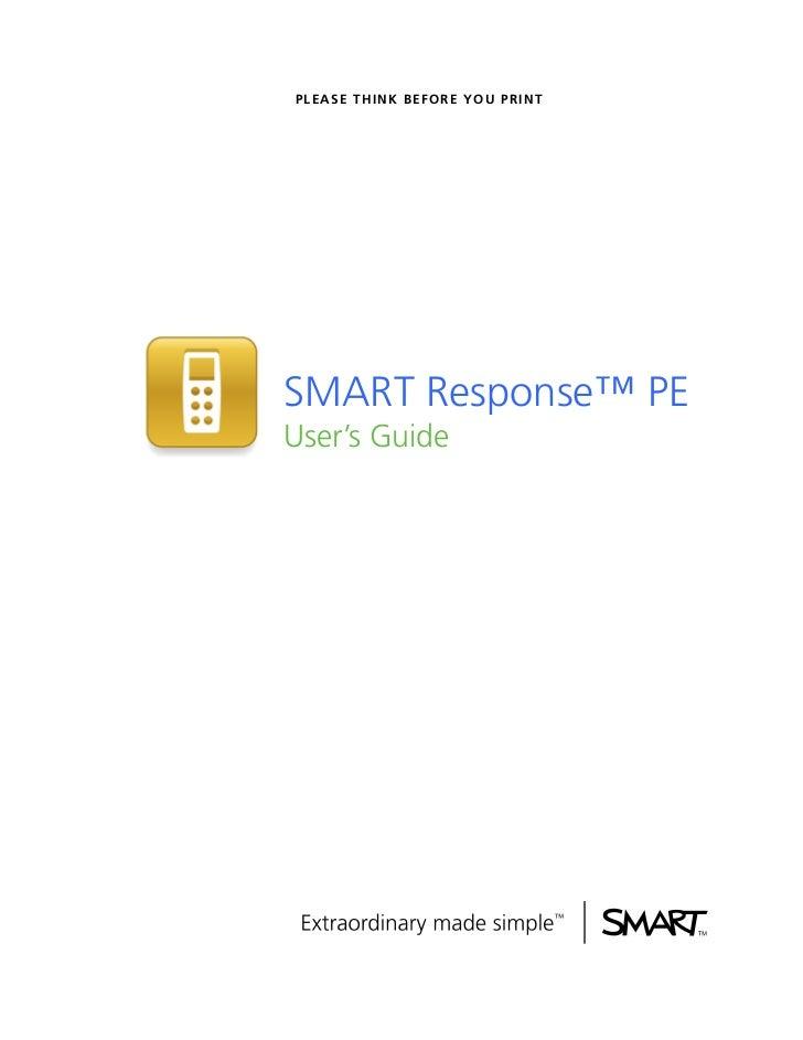 SMART PE Response Guide