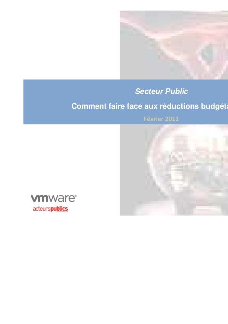 Secteur PublicComment faire face aux réductions budgétaires ?                  Février 2011