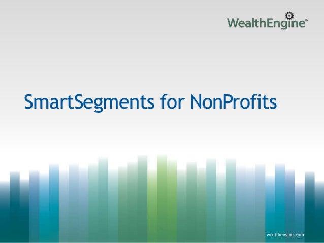 WealthEngine SmartSegments for Nonprofits